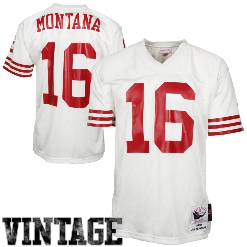 Joe Montana San Francisco 49ers Mitchell & Ness Authentic Throwback Jersey - White - 60