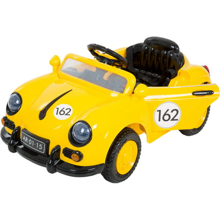 Ride On Toy Car, Battery Powered Classic Sports Car With Remote Control and Sound by Lil' Rider – Toys for Boys and Girls 2 – 5 Year Olds (Yellow) - 1 Year Old Outdoor Toys