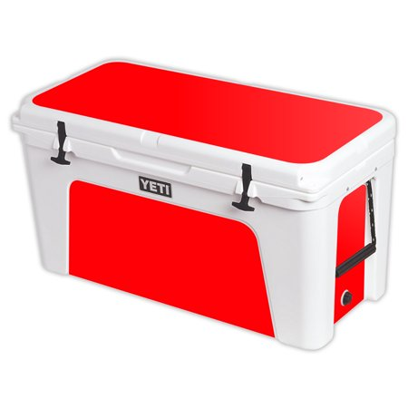 MightySkins Protective Vinyl Skin Decal for YETI Tundra 110 qt Cooler Lid wrap cover sticker skins Solid Baby Blue -  YETUND110-Solid Red