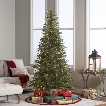7.5 ft. Delicate Pine Slim Pre-Lit Christmas Tree Pine Slim Christmas Tree