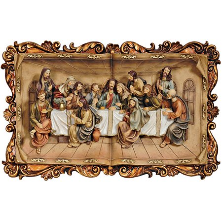 Ore international inc 28 h last supper plaque for Decor international inc
