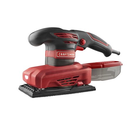 Amp Shield (Craftsman Sheet Sander 1/3 2.5 Amp Corded Electric with Dust Collector Vibra Shield Grip)