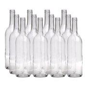 Wine Bottles - 750 mL Flint Claret - Flat Bottom - Screw Top - Case of 12