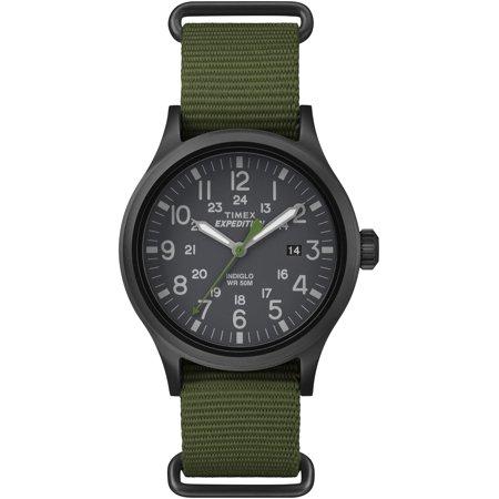 Timex Mens Expedition Scout Watch  Green Nylon Slip Thru Strap