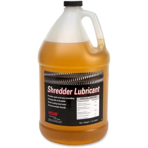 HSM Shredder Lubricant - Gallon Bottle - Gallon - Amber