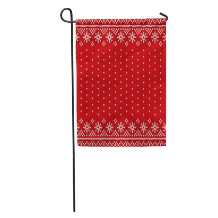 Fair Isle Garden - KDAGR Sweater Traditional Fair Isle Knitted Pattern Christmas and New Year Garden Flag Decorative Flag House Banner 12x18 inch