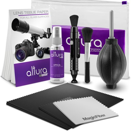 Altura Photo Professional Cleaning Kit for DSLR Cameras and Sensitive Electronics Bundle with 2oz Altura Photo Spray Lens and LCD
