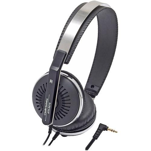 Audio-Technica Closed Back On-Ear Headphones, Black