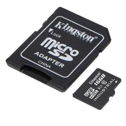 Kingston 16GB microSDHC UHS-I Class 10 Industrial Temp Card with SD Adapter
