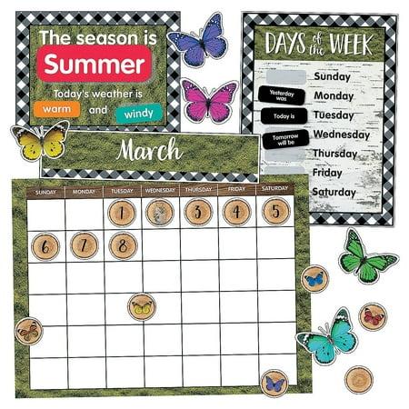 Fun Express - Sgs Woodland Whimsy Bb Calendar Set - Educational - Classroom Decorations - Bulletin Board Decor - 94 Pieces