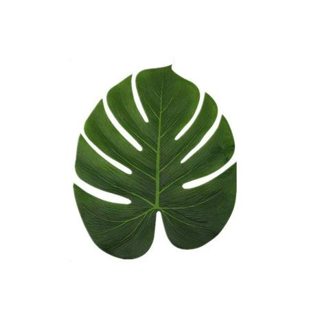 Electronicheart 12/24/48pcs Artificial Tropical Palm Monstera Leaves Simulation Leaf for Hawaiian Luau Beach Theme Party Jungle Decoration - image 3 of 6
