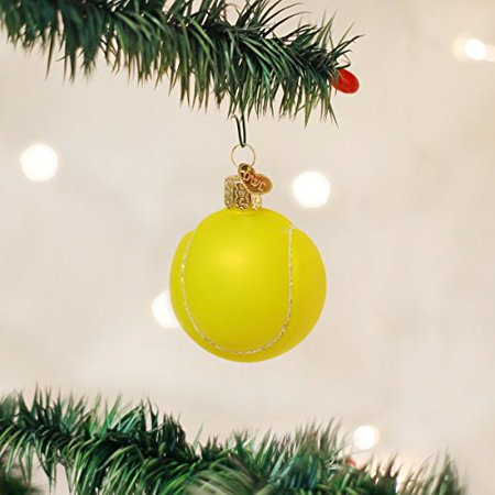 - Old World Christmas Tennis Ball Glass Blown Ornament