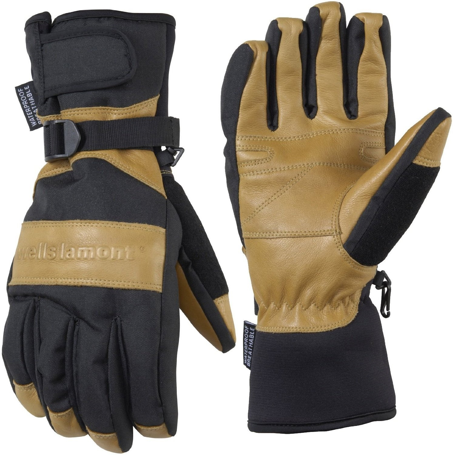 Mens leather insulated gloves - Wells Lamont Grips Gold Insulated Waterproof Gloves Men Lrg Sku