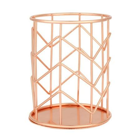 Wrought Iron Desktop Storage Basket Pen Bucket Storage Baskets ()