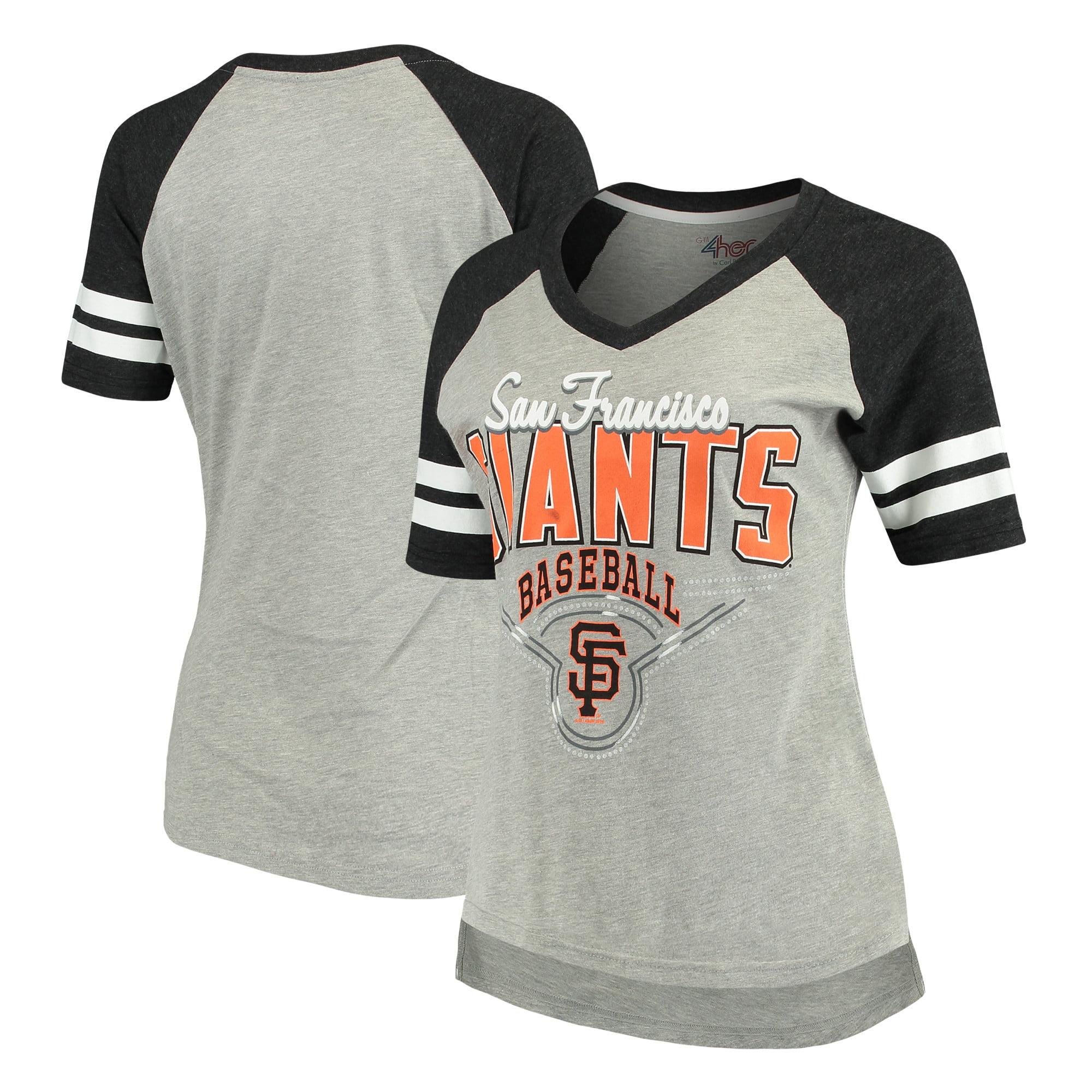 San Francisco Giants G-III 4Her by Carl Banks Women's Goal Line T-Shirt - Heathered Gray/Black