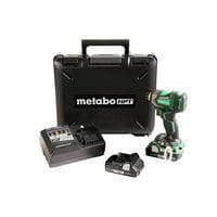 Metabo HPT WH18DBDL2M 18V 3.0 Ah Cordless Lithium-Ion Brushless 1/4 in. Hex Triple Hammer Impact Driver Kit