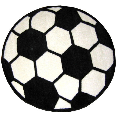 Fun Rugs Fun Shape High Pile Soccerball Sports Area Rug