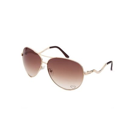 17a6655c8c8 Source · GUESS Aviator 7021 Womens Brown Frame Gold Lens Sunglasses