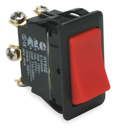 Power First 2LNG2 Red Rocker Switch
