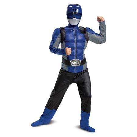 Beast Halloween Costumes (Halloween Blue Ranger Beast Morpher Classic Muscle Child)