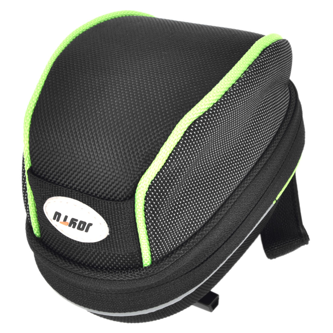 Unique Bargains Outdoor Cycling Zipper Closure Saddle Pouch Seat Tail Bag Holder Black Green