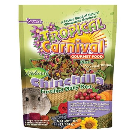 Brown's Tropical Carnival Chinchilla Small Animal Food, 3 Lb