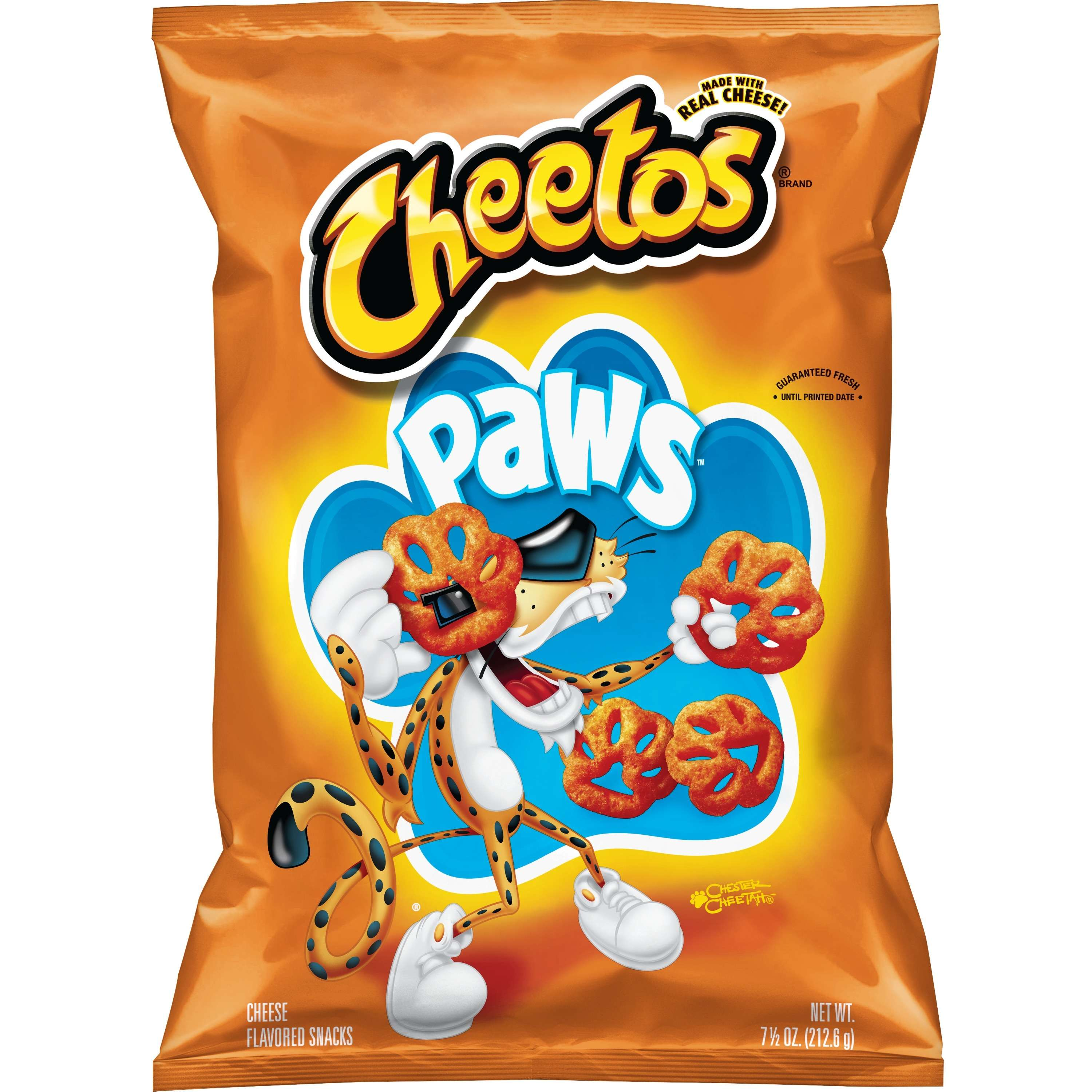 Cheetos Paws, Cheese Flavored Snacks, 7.5 oz. Bag