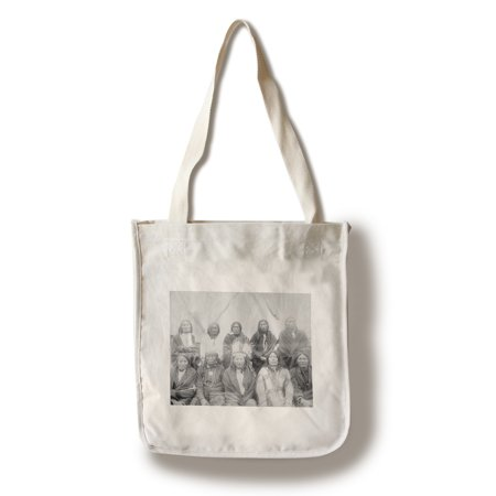 Lakota Indian Chiefs who Met General Miles to End Indian War - Vintage Photograph (100% Cotton Tote Bag - Reusable)