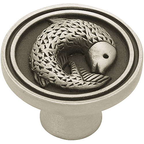 Liberty 35mm Pisces Fish Knob, Brushed Satin Pewter
