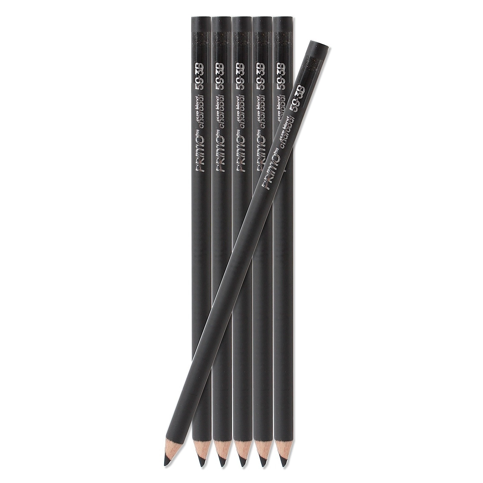 Box of Twelve Soft 3B General Pencil Primo Charcoal Pencils
