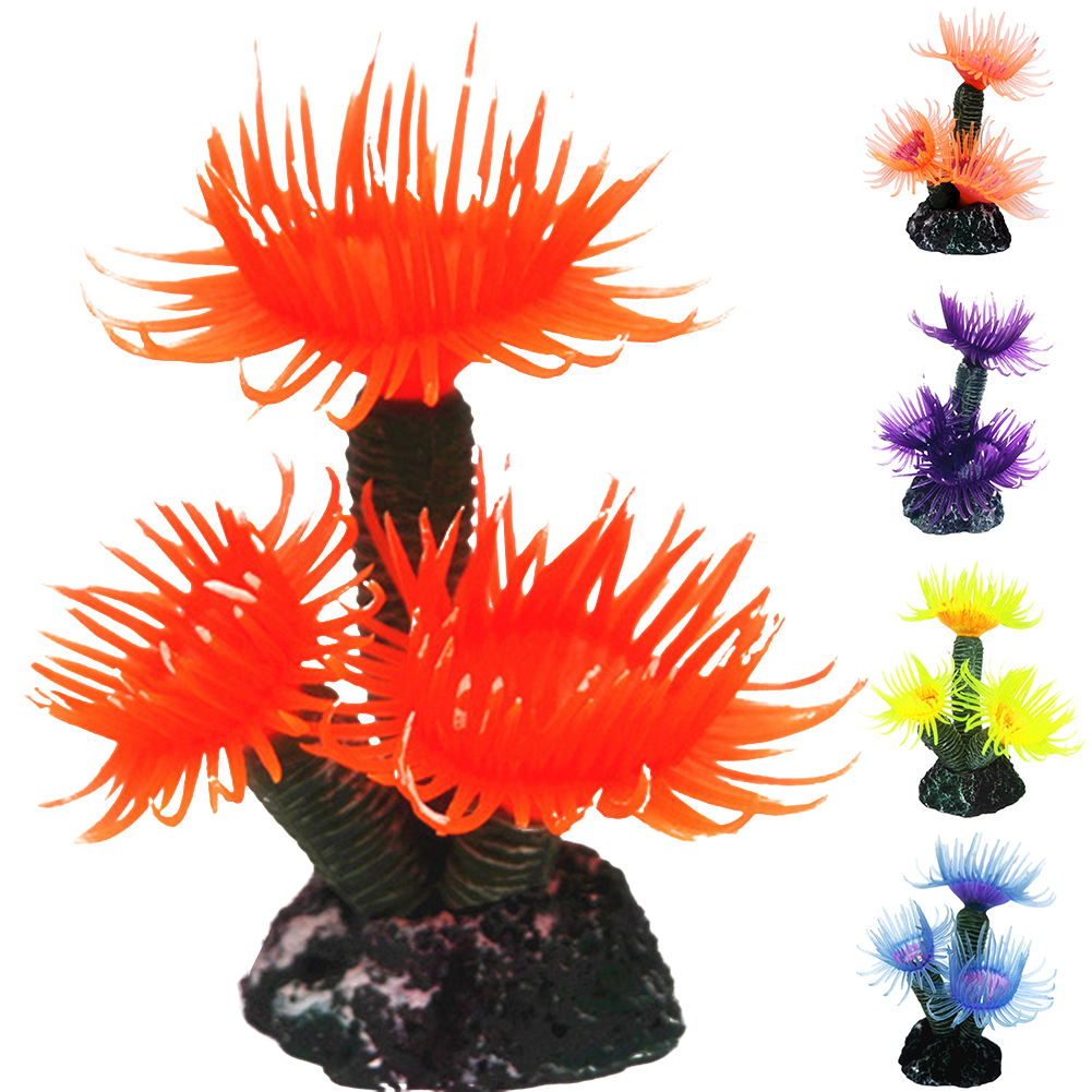 Micelec Fish Tank Artificial Coral Simulation Decoration Aquarium Landscape Ornament