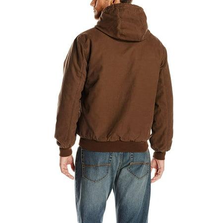 Wolverine Men/'s Long Sleeve Houston Cotton Duck Hooded Jacket Black Large New
