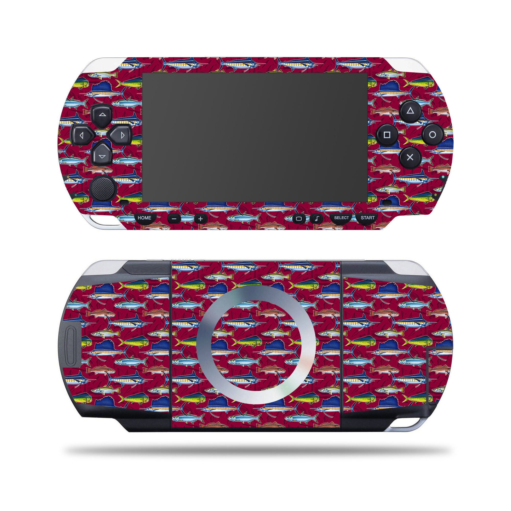 Skin Decal Wrap for SONY PSP Saltwater Collage