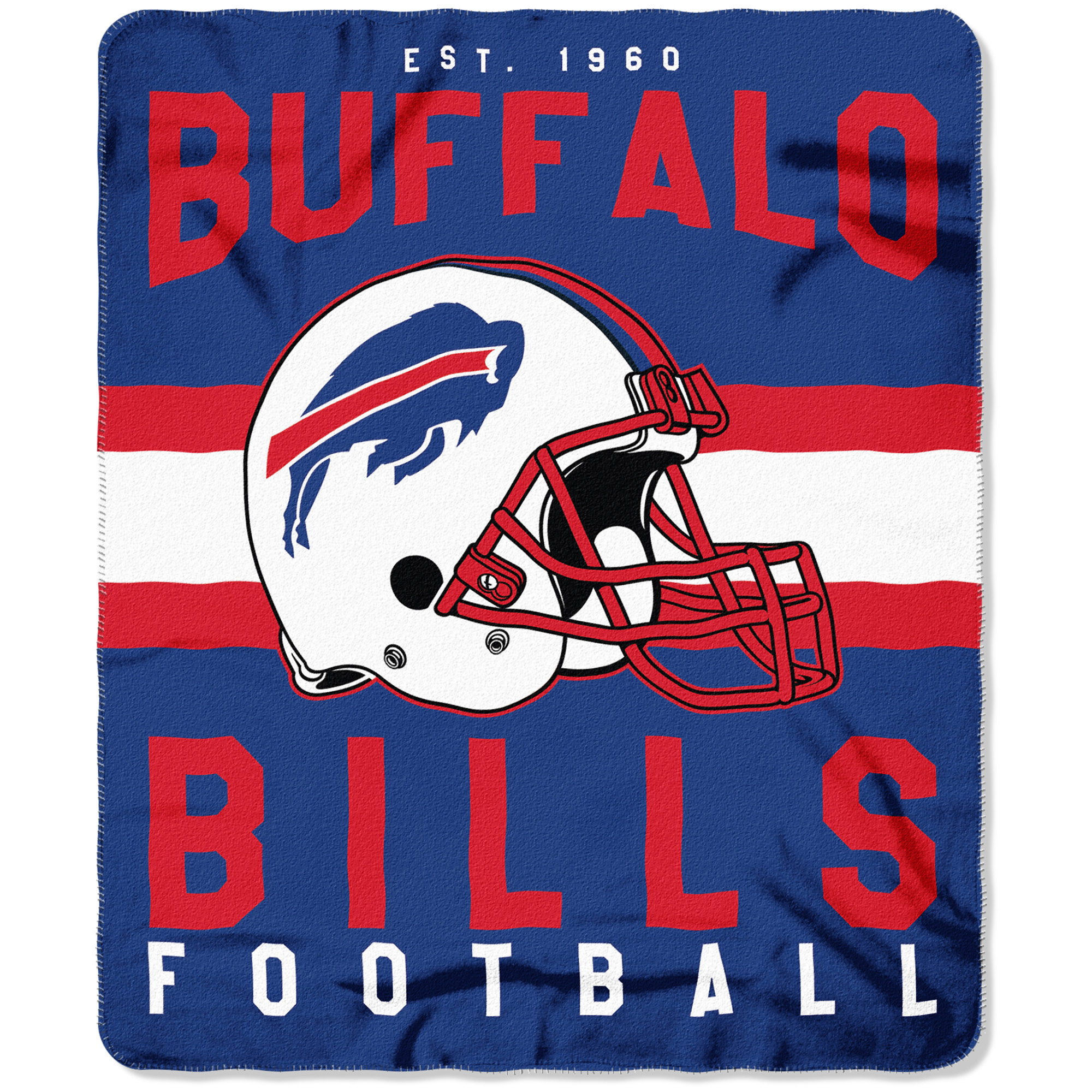 "NFL Buffalo Bills ""Singular"" 50"" x 60"" Fleece Throw"