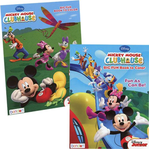 - Mickey Mouse Clubhouse 80pg Coloring Book 2 Asstd- 2 PC - Walmart.com -  Walmart.com