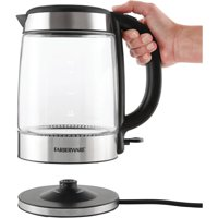 Farberware MK-G117A1B 1.7L Glass Kettle with Blue LED Power Indicator