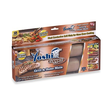 New Yoshi Mat Copper Grill And Bake Mats Set Of 2 As