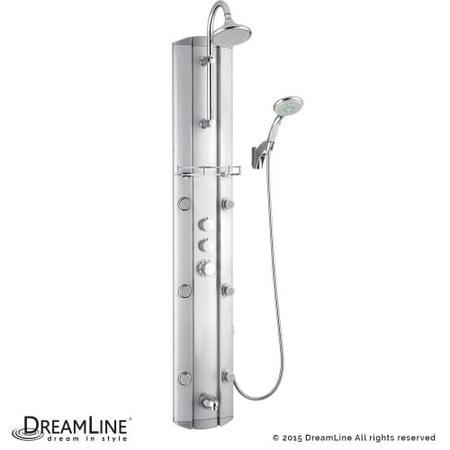 Dreamline SHCM-23580 Rainfall Hydrotherapy Shower Column with Six Body Sprays an