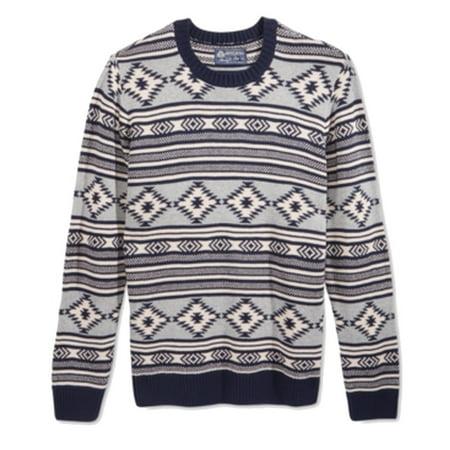 american rag new blue white mens size 2xl crewneck fair isle - Fair Isle Sweater Kids