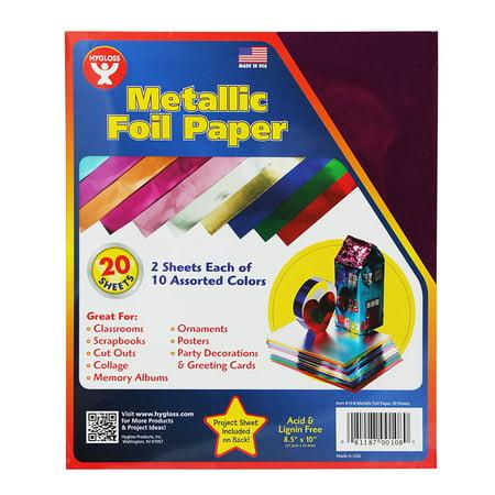 METALLIC PAPER 2 EACH 10 ASST - Metallic Paper