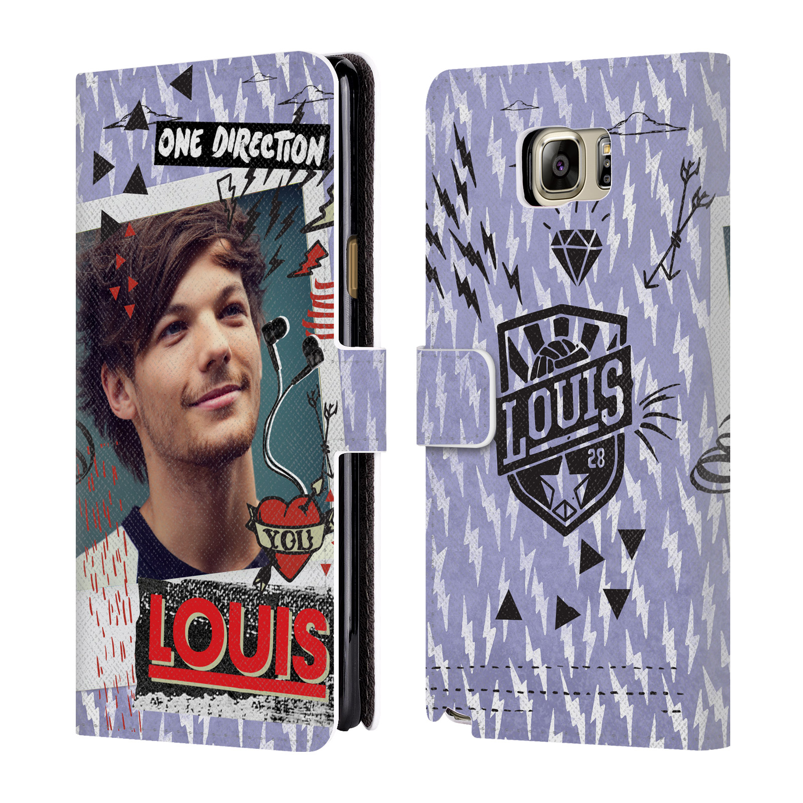 OFFICIAL ONE DIRECTION MIDNIGHT MEMORIES SHOTS LOUIS LEATHER BOOK WALLET CASE COVER FOR SAMSUNG PHONES 1