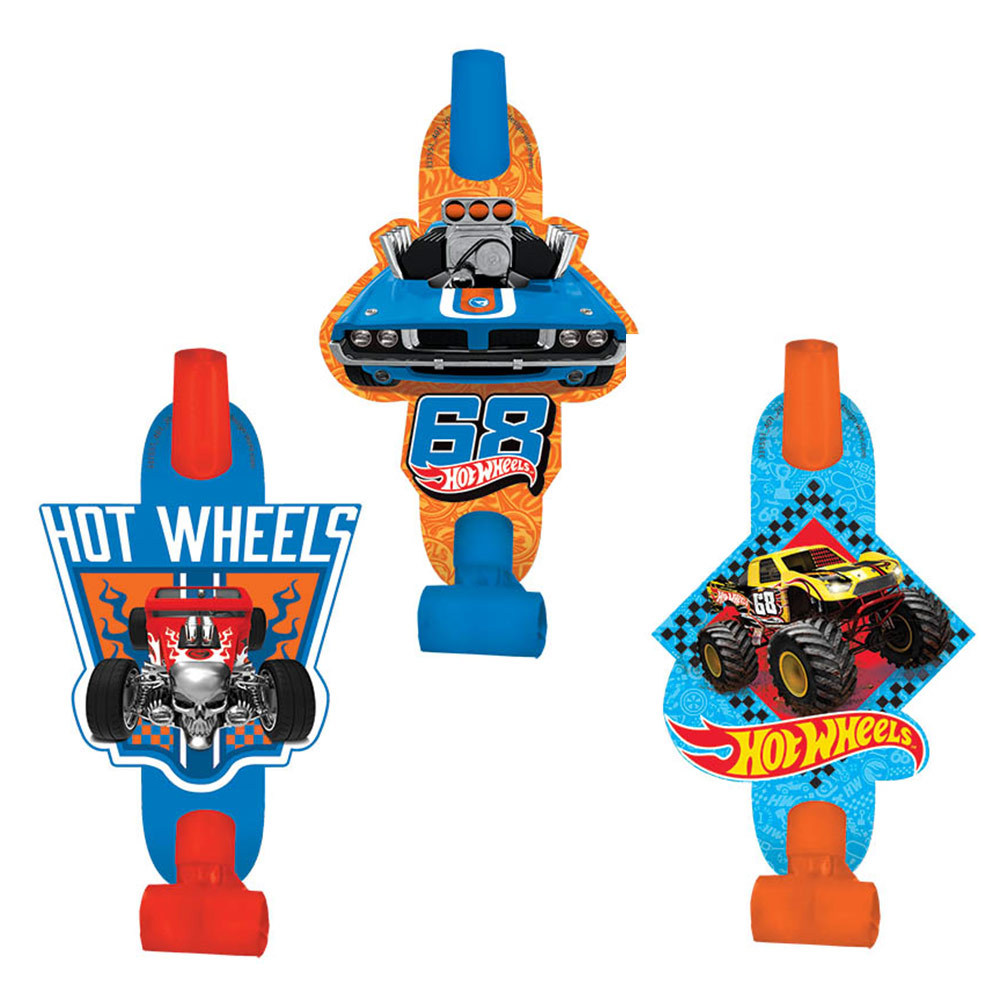 Hot Wheels Wild Racer Blowouts (8 Count) - Party Supplies