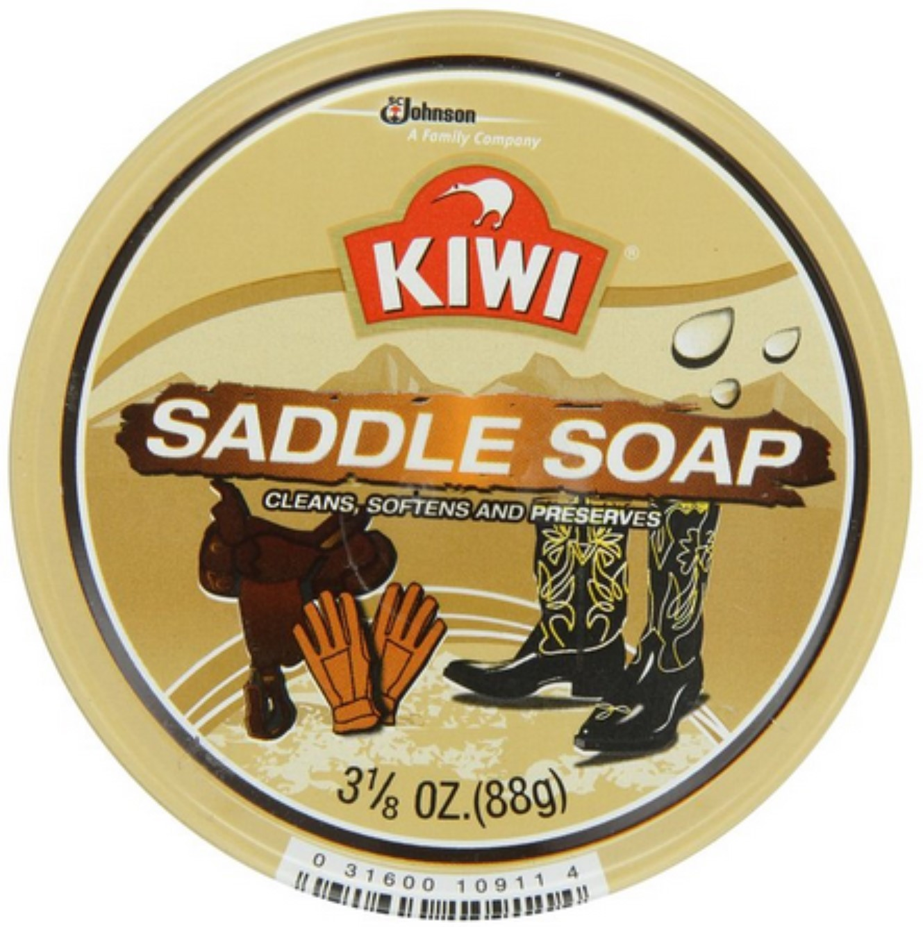 KIWI Saddle Soap 3.125 oz (Pack of 2)