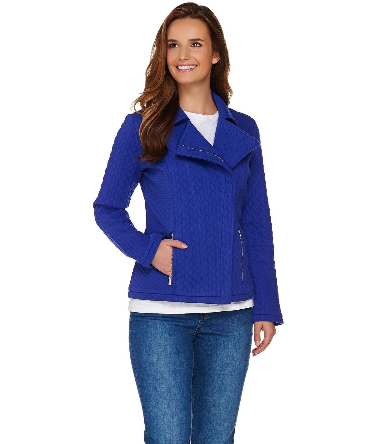 Quilted Knit Blazer PICK SIZE /& COLOR new Isaac Mizrahi Live