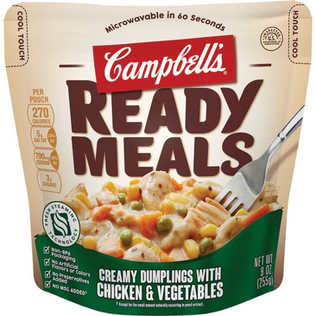 Campbell's Ready Meals Creamy Dumplings with Chicken & Vegetables, 9 oz.