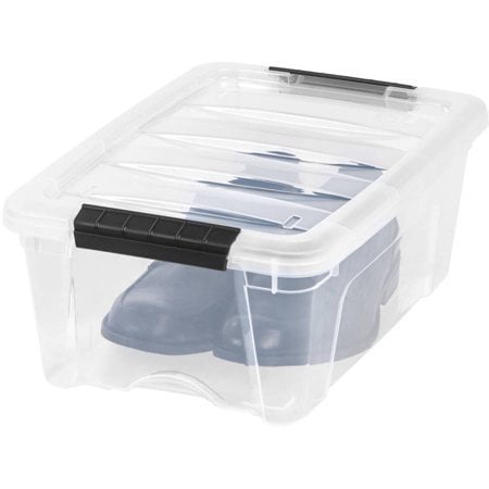 IRIS USA 12 Qt Plastic Storage Box with Latches