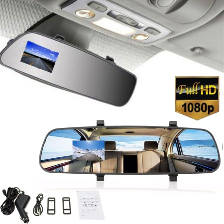 2.7'' HD 1080P LCD Car Rearview Mirror Digital Video Recorder Dash Camera DVR Cam Support G-sensor, Motion Detecting, Auto-Start, Loop Recording