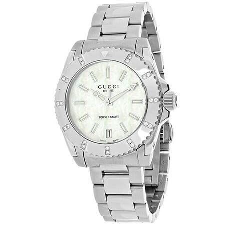 Gucci Women's Dive Watch Quartz Sapphire Crystal YA136405