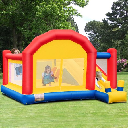 Costway Inflatable Bounce House Slide Bouncer Castle Jumper Playhouse without Blower (Play Bouncer)