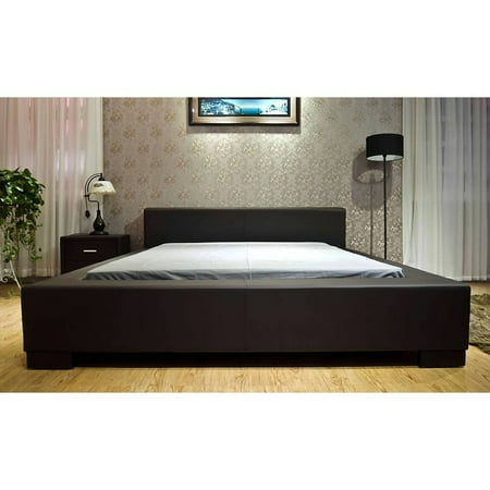 Greatime B1142 Modern Platform Bed, California King, Dark Brown
